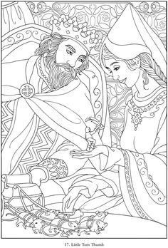 dover coloring book famous fairy tales - Google Search | library ...