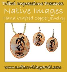 Hand Crafted Primative Images Eagle Dancer - Laquared protective finish. -Review The Tribal Impressions hand crafted copper collection off of:  http://www.indianvillagemall.com/copperjewelry.html