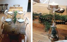 6 idées de dernière minute pour décorer votre table de Noël - Interior Crisp blog Vase Haut, Table Settings, Xmas, Blog, Menu Boards, Last Minute, Christmas Tabletop, Christmas Parties, Garland