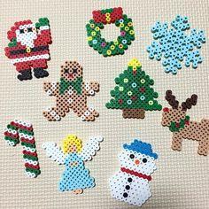Christmas ornaments perler beads by vivaminami