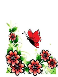 Flower Frame, Flower Art, Quilling Paper Craft, Paper Crafts, Alcohol Ink Crafts, Butterfly Template, Flower Clipart, Flower Doodles, Wine Bottle Crafts