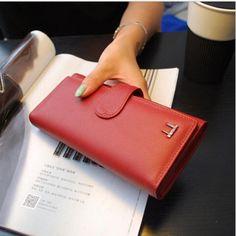 hot sale women genuine  leather wallet  brand luxury women three foldings  coin Purse handbag