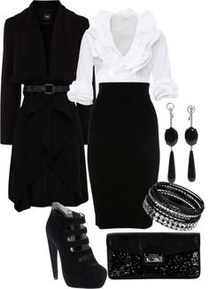"""black & white chic"" by tonyagex on Polyvore"