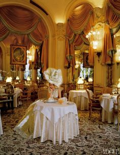 Kate Moss Wearing Couture in the Paris Ritz by Tim Walker for US Vogue