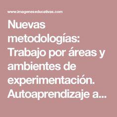 Nuevas metodologías: Trabajo por áreas y ambientes de experimentación. Autoaprendizaje al poder.