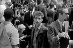 August 28th 1963. Bob Dylan and Peter Yarrow (right) during the March on Washingto