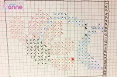 Ayçiçeği Tunus İşi Patik Modeli Yapımı - Canım Anne Tunisian Crochet, Bullet Journal, Charts, Anne, Stitch, Mini Cross Stitch, Cross Stitch Flowers, Molde, Crochet Hats