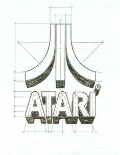 Atari Star Distressed USA Red White Blue Game 80/'s Logo Design