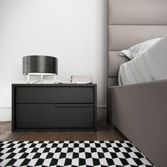 The Jane Nightstand features a sleek design accentuated by thin hand grips. With two spacious drawers, the Jane Nightstand offers plenty of bedroom storage. Modern Bedroom Furniture, Bedroom Decor, Bedroom Inspo, Furniture Design, Bedside Table Design, Clean Bedroom, Bedroom Paint Colors, Bedside Cabinet, Awesome Bedrooms