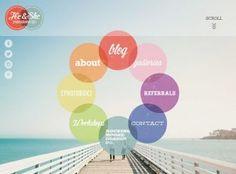 screenshot du site : He & She Photography