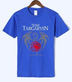 a1c35c542 Men Sleeve T-Shirt 100% Cotton For Male - Targaryen Fire& Blood Only