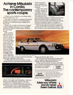 Lost Cars of the 1980s Mitsubishi Starion / Dodge The