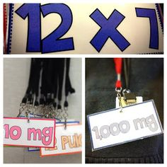 FREE measurement and multiplication facts lanyard cards. Students wear these all day long and call each other by the answer on their cards. Lots of fun!                                                                                                                                                                                                                                                             Tabitha Carro                                                                   • That's…