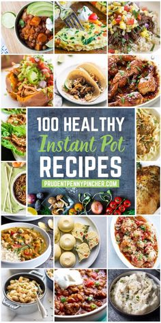Whip up an easy and healthy dinner with these healthy instant pot recipes. From veggie-packed soups to lightened-up chicken dinners, there are plenty of healthy recipes to choose from. # Healthy Recipes on the go 100 Healthy Instant Pot Recipes Instant Pot Pressure Cooker, Pressure Cooker Recipes, Pressure Cooking, Slow Cooker, Instant Pot Dinner Recipes, Instant Recipes, Healthy Dinner Recipes, Delicious Recipes, Healthy Instapot Recipes