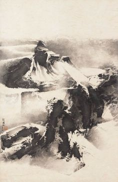 Wintry Mountains Covered with Snow Liu Guosong [Liu Kuo-sung],