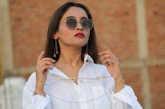 Sterling silver designer chain n Earring delicate n beautiful Cat Eye Sunglasses, Delicate, Sterling Silver, Chain, Earrings, How To Wear, Beautiful, Jewelry, Design