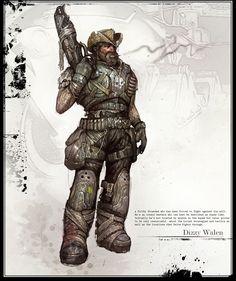 Concept Art 04 - Gears Of War 2 Artwork Game Character, Character Concept, Concept Art, Character Design, James Hawkins, Gears Of War 2, Starwars, Dystopia Rising, Future Soldier