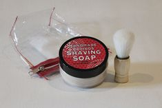 Handmade shaving soap with a touch of rosemary and a shaving brush is a great gift for dad. This pack includes: Handmade shaving soap Shaving brush Comes in a plastic zipper bag