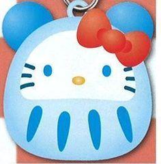 Hello Kitty Little Panda Daruma Lucky Fortune Blue