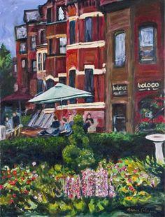 Newbury Street, Boston  From an original painting by:Karen Watson Johnson