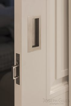 Joseph Giles sliding door pulls in brushed nickel finish