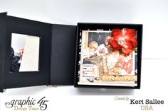 Capture Life's Moments with this great dragon fold mini album using Grpahic 45 An ABC Primer by Keri Salee