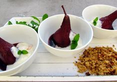 Spiced Red Wine Poached Pears Wine Poached Pears, Pear Recipes, Red Wine, Spices, Desserts, Food, Ideas, Tailgate Desserts, Spice