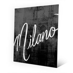 Click Wall Art Metal Urban Milano Graphic Art on Plaque Size: