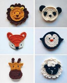 "09 2014 ~ ""Crochet of Mimi"" Crochet Applique Patterns Free, Crochet Animal Patterns, Crochet Animals, Crochet Motif, Crochet Designs, Knitting Patterns, Baby Applique, Crochet Crafts, Yarn Crafts"