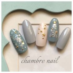 A not a macr a ordf a a a a a copy a curren a a laquo a a a a a a Manicure, Sns Nails, Glam Nails, Beauty Nails, Cute Christmas Nails, Holiday Nails, Winter Nail Art, Winter Nails, Christmas Nails