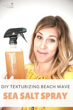 Diy Sea Salt Spray, Sea Salt Spray For Hair, Beach Wave Spray, Beach Wave Hair, Beach Waves Hair Product, Beach Curls, Leave In, Damp Hair Styles, Natural Hair Styles