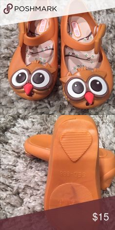 ab5a175927f7 Owls Mini Melissa imitation Super cute very high-quality imitation mini  Melissa shoe in the owl mustard color. They seem to run a little small  maybe a half ...