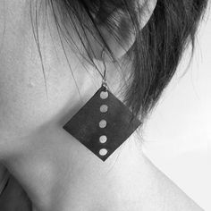 """Recycled materials jewellery. Earrings """"cerfs-volent' made of upcycled inner tubes. Present for her."""