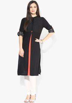 69127175a40 Buy W Black Printed Viscose Kurta Online - 3192970 - Jabong