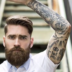 high and tight. #handsome #beards #gentlemen