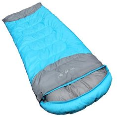 Gazelle Outdoors Warm Weather Sleeping Bag Outdoor Camping Backpacking  Hiking  Fit for Kids Teens and Adults  Spring Summer  Fall UltraLight Compression Envelope Sleeping Bag Blue * Find out more about the great product at the image link.