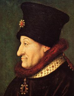 Philip the Bold, youngest son of John II of France. 18th great grandfather.