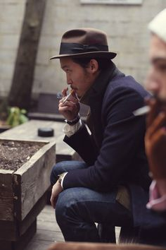 Hats and cigarettes are cool!!