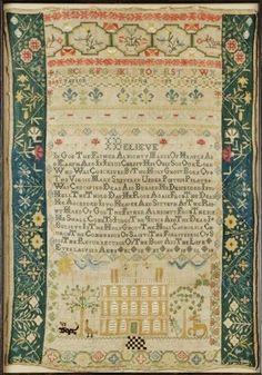 ♒ Enchanting Embroidery ♒  antique sampler