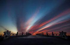Beijing, China:   The dawn sky seen on Jan. 10.