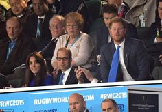 Worried, Harry? And the Duchess was not the only one who looked tense during the game - Prince Harry also appeared affected (right)
