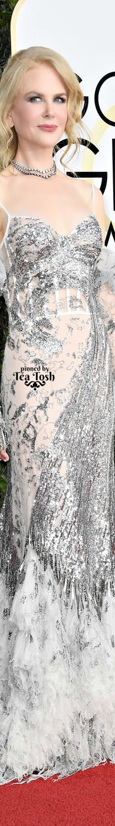 ❇Téa Tosh❇ Nicole Kidman, wearing an Alexander McQueen dress with Fred Leighton jewels and Stuart Weitzman shoes.