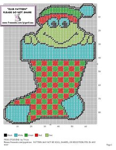 FROG STOCKING by TRICIA