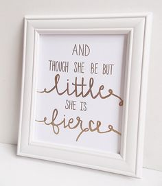 This inspirational quote is a must have for a little girls nursery or room!    This original design is hand lettered in gold and gold leaf