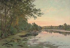 Still Waters At Dusk de Albert Gabriel Rigolot (1862-1932, France)