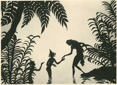 The long and varied career of Lotte Reiniger, best known for her exquisite Adventures of Prince Achmed, one of the first feature-length animated films ever made, is detailed by William Moritz Shadow Art, Shadow Play, First Animation, Animation Film, Shadow Theatre, Film D'animation, Book Sculpture, Shadow Puppets, Fairytale Art