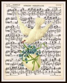 Spring Time Sheet Music Art Print