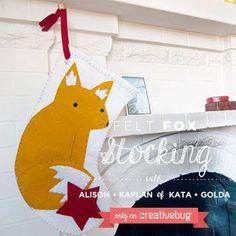 Materials Kit for Creativebug project- Felt Fox Stocking