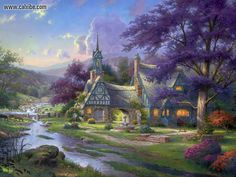 Thomas Kinkade Clock Tower Cottage