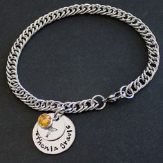 Medical Alert Double Disc Charm Bracelet  by SusansJewelryDesigns, $23.00